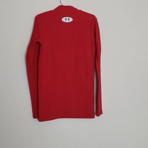 Under Armour Shirts & Tops - Under Armour red coldgear mock neck fitted shirt